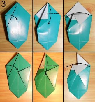 оригами ваза для цветов схема 3