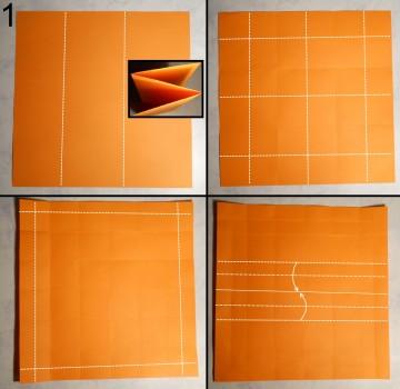 ваза оригами квадратная схема 1