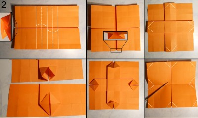 ваза оригами квадратная схема 2
