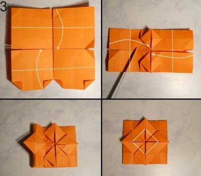 ваза оригами квадратная схема 3