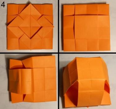 ваза оригами квадратная схема 4