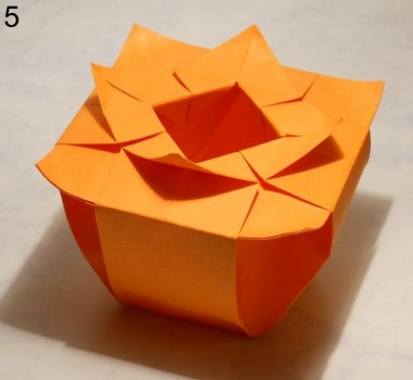 ваза оригами квадратная схема 5