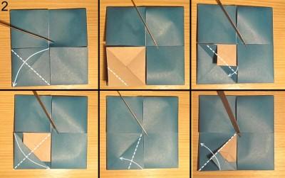 Оригами ваза с лепестками схема 2