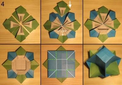 Оригами ваза с лепестками схема 4
