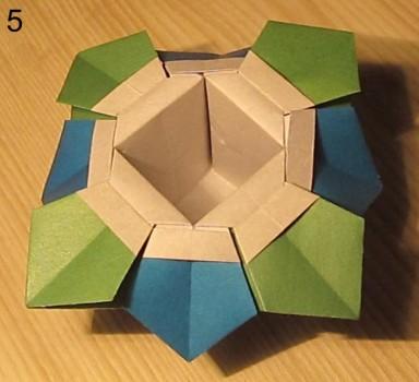 Оригами ваза с лепестками схема 5