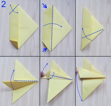 схема сборки истребителя оригами 2