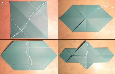 схема сборки меч оригами 1