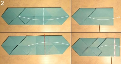 схема сборки меч оригами 2