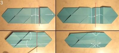 схема сборки меч оригами 3