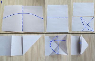 танк оригами абрамс схема 1