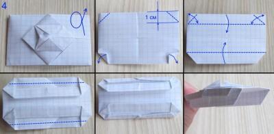 танк оригами абрамс схема 4