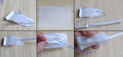 танк оригами абрамс схема 7