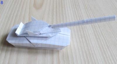 готовый абрамс танк оригами