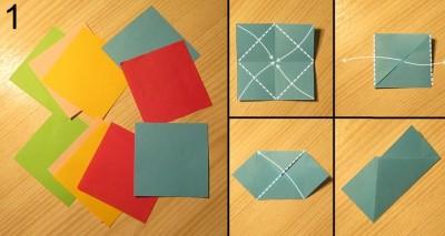 схема сборки звезды оригами 1