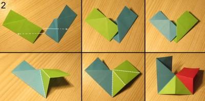 схема сборки звезды оригами 2