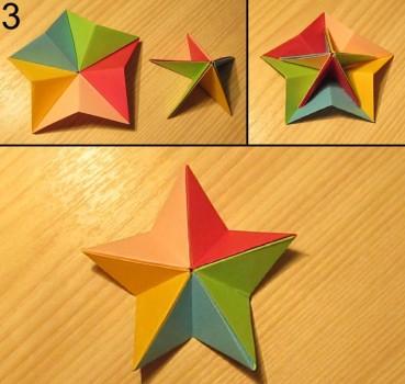 схема сборки звезды оригами 3