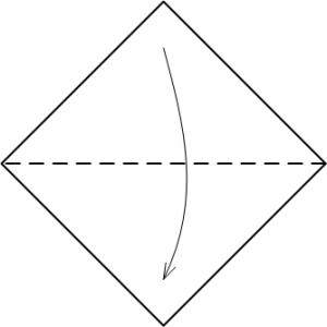 Божья коровка оригами схема 1
