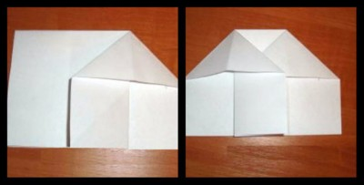 Бумажный стульчик оригами схема складывания 3