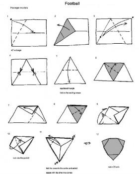Футбольный мяч модульное оригами схема складывания 1 шаг 1-12