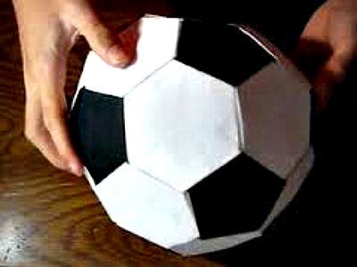 Футбольный мяч оригами мастер-класс