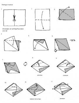 Футбольный мяч оригами схема складывания 2 шаг 1-12