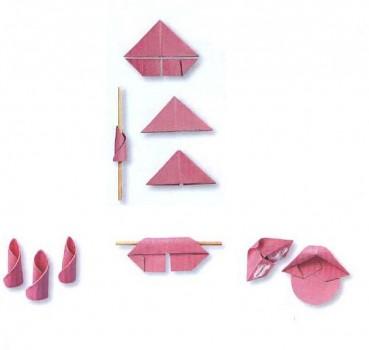 Модульное оригами торт розочки