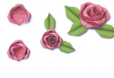 Модульный тортик оригами розочки схема