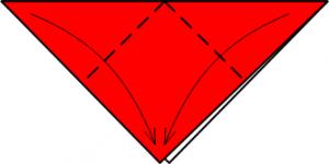 Оригами Божья коровка схема 2
