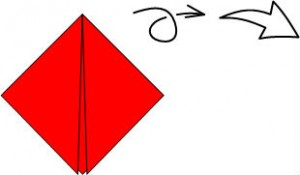 Оригами Божья коровка схема складывания 3