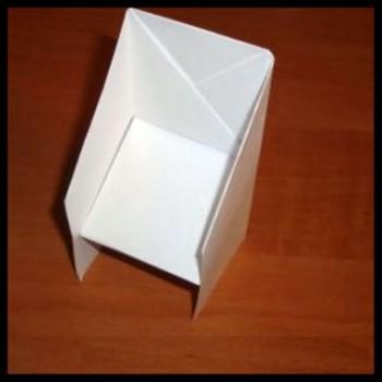 Оригами бумажный стул мастер-класс схема