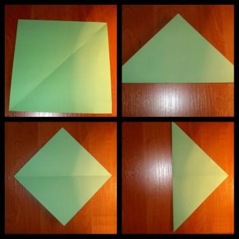 Оригами пружина схема складывания шаг 1-4