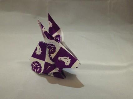 Простой маленький Заяц оригами :)