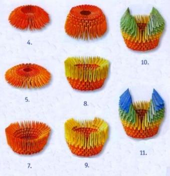 Радужный Лебедь оригами схема 4-11
