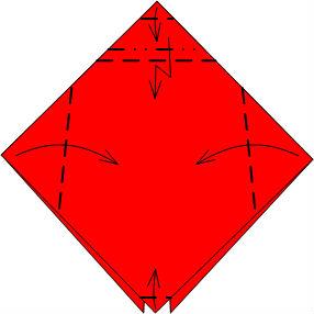 Схема 4 Божья коровка оригами