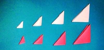 Тортик модульное оригами схема модули