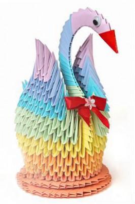 Великолепный модульный Лебедь оригами