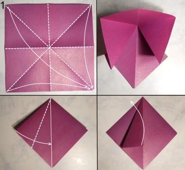 Лилия оригами схема 1