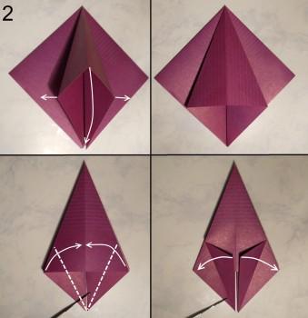 Лилия оригами схема 2