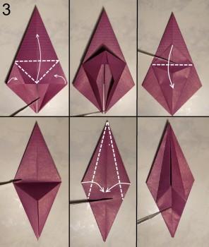 Лилия оригами схема 3