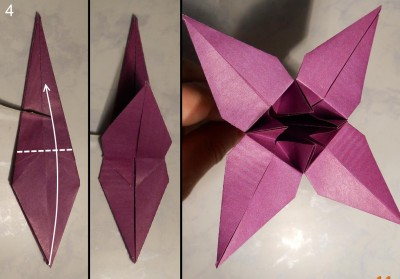 Лилия оригами схема 4