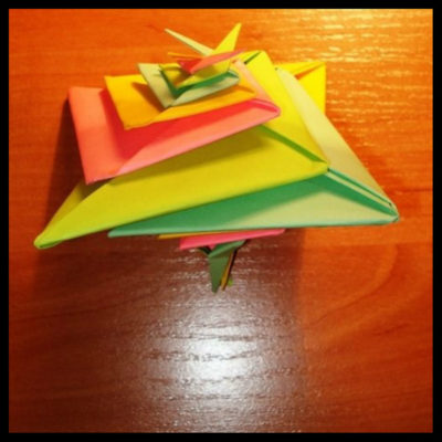 Оригами объёмная Спираль мастер-класс