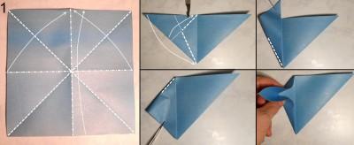 Стрекоза оригами схема 1
