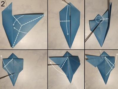 Стрекоза оригами схема 2