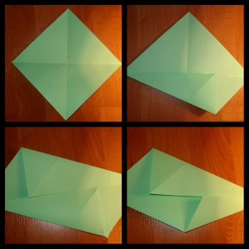 Оригами объёмная Спираль схема шаг 5-8