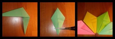 поделка оригами спираль схема шаг 13-14