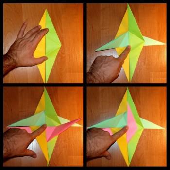схема сборки оригами спираль 1-4