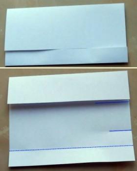 Бутылка оригами схема шаг 2