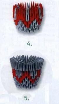 Кактус модульное оригами схема сборки шаг 4-5