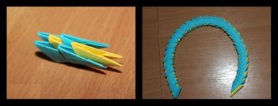 Корзинка оригами схема 13