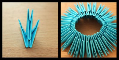 Корзинка оригами схема складывания шаг 1-2